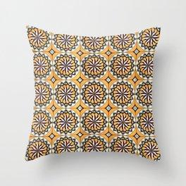 Floor Series: Peranakan Tiles 21 Throw Pillow
