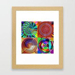 cloud, things, circles Framed Art Print