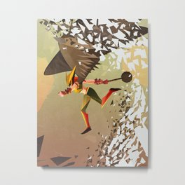 Flying and Hitting Stuff is Awesome Metal Print