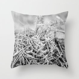 Spiked forest Throw Pillow