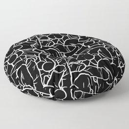 Schlong Song in Black, All the Penis! Floor Pillow