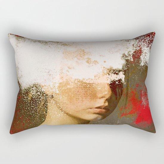 The woman without look Rectangular Pillow