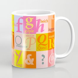 Scottish Couthie Words Alphabet. Coffee Mug
