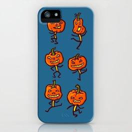Six dancing pumpkins iPhone Case