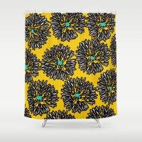 indigo Shower Curtains featuring Indigo by Simi Design