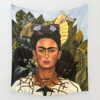 frida Wall Tapestries featuring Frida by Jenna Spurlock
