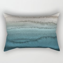 WITHIN THE TIDES - CRASHING WAVES TEAL Rectangular Pillow