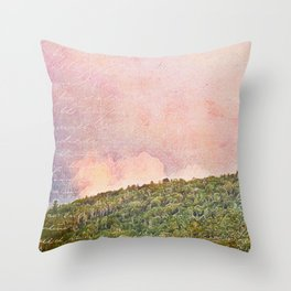 Late Summer Skies in Maine Abstract Throw Pillow
