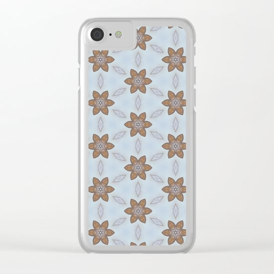 Flower Abstract Clear iPhone Case
