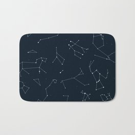 Silver Constellations Bath Mat