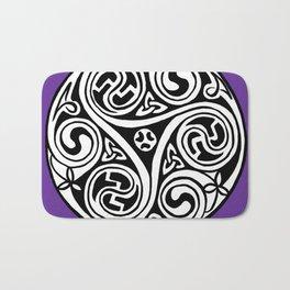 Celtic Art - Triskele - on Purple Bath Mat