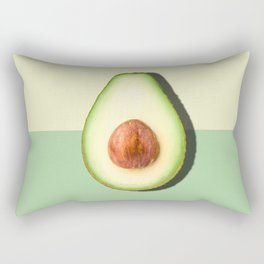Avocado Half Slice Rectangular Pillow