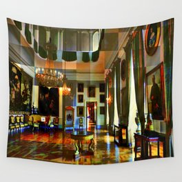 Castle and space in Photo Art Wall Tapestry