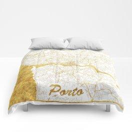 Porto Map Gold Comforters