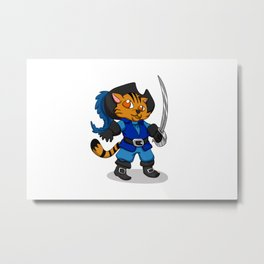 Puss In Boots Metal Print