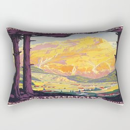 Vintage poster - En Tarentaise, France Rectangular Pillow