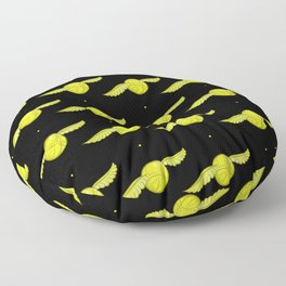 Black Golden snitch Floor Pillow