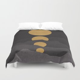 Rise of the golden moon Duvet Cover