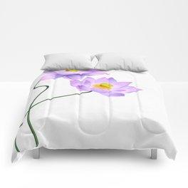 Thamarai, Yellow Flower, Floral Pattern, Yellow Blossom Comforters