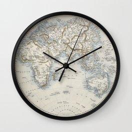 Eastern Hemisphere of the World 1851 Wall Clock