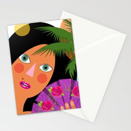 Leila is having fun Stationery Cards