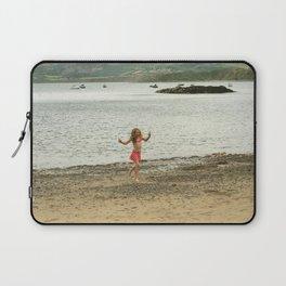 girl on the beach Laptop Sleeve