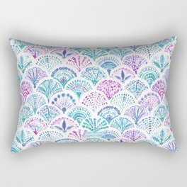 SHELL OUT Boho Mermaid Scales Rectangular Pillow