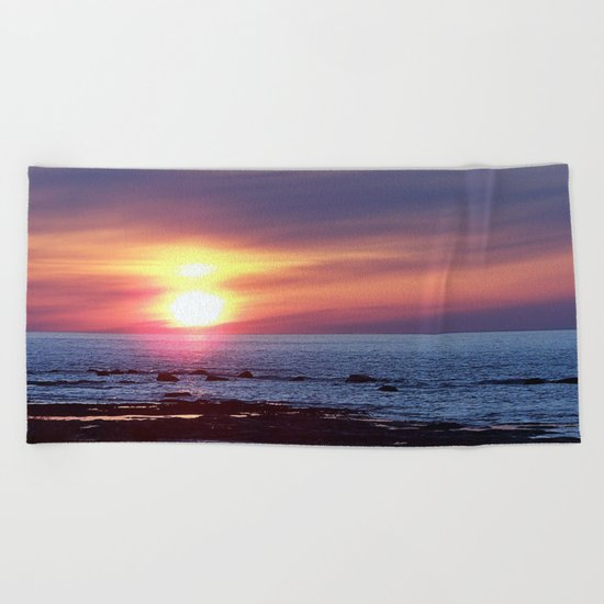 Double Sun Sunset Beach Towel