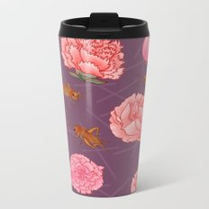 Carnations & Crickets Metal Travel Mug