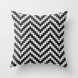 Herringbone Weave Seamless Pattern. Throw Pillow