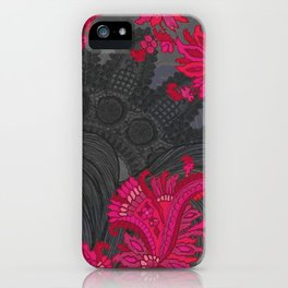 Black Lace of India iPhone Case
