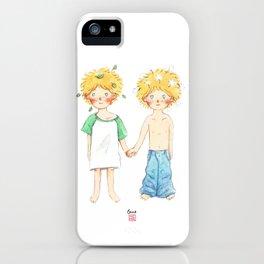 Little twin boy iPhone Case