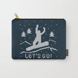 Let's go Snowboarding! Carry-All Pouch