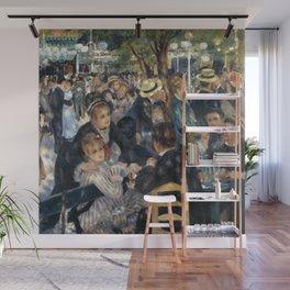 Auguste Renoir -Bal du moulin de la galette, Dance at Le moulin de la Galette Wall Mural