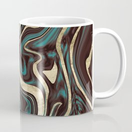 Turquoise Brown Gold Marble #1 #decor #art #society6 Coffee Mug
