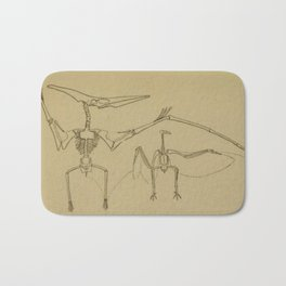 Pterodactyl Anatomy Bath Mat