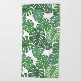 MONSTERA JUNGLE, by Frank-Joseph Beach Towel