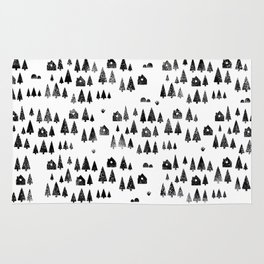 House Trees Pattern Rug