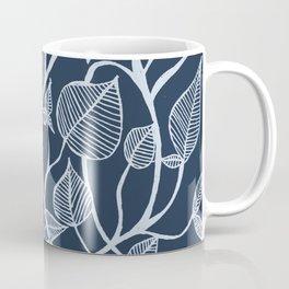 blue leaves #25 Coffee Mug