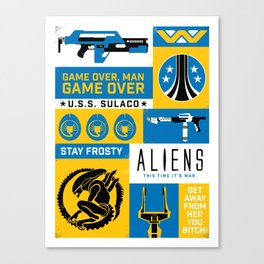 Game Over, Man Canvas Print