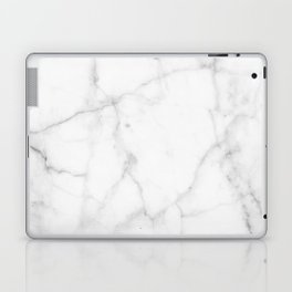Pure Solid White Marble Stone All Over Laptop & iPad Skin