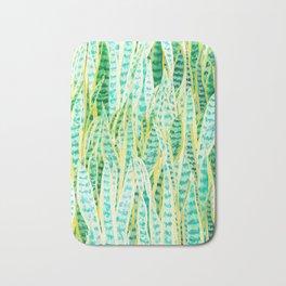 green snake plant pattern Bath Mat