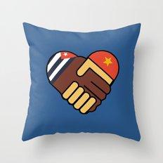 Hands Of Friendship Throw Pillow