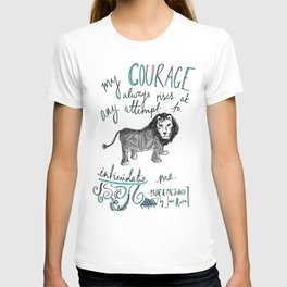 COURAGE: PRIDE AND PREJUDICE by JANE AUSTEN T-shirt