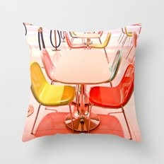 Bright Chairs Throw Pillow