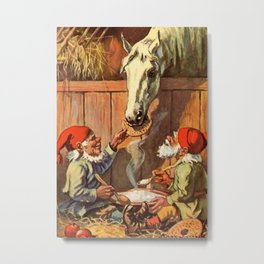 """Dinner in the Stables"" by Jenny Nystrom Metal Print"