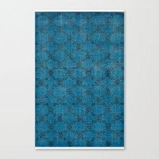 Overdyed Rug 1 Aqua Canvas Print