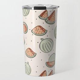 Watermelon Seamless Pattern Travel Mug