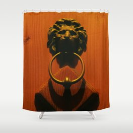 The knocker Shower Curtain