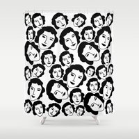 women Shower Curtains featuring Women by Emmanuelle Ly
